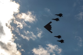 Fourth of July flypast